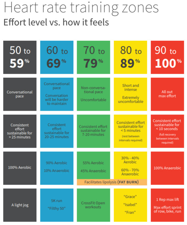 A refresher - the 5 heart rate zones   The Port - CrossFit ...